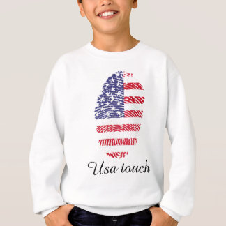 Usa touch fingerprint flag sweatshirt