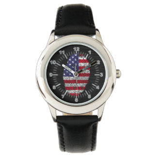 Usa touch fingerprint flag watch