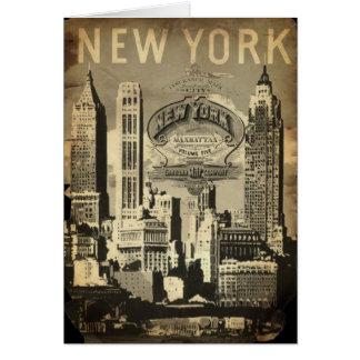 USA travel landmark vintage New York Greeting Card