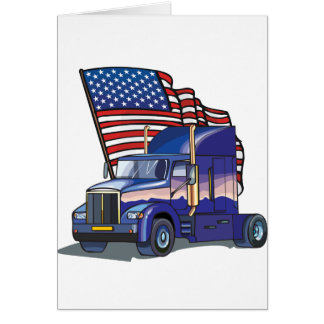 USA Truck Driver Greeting Card