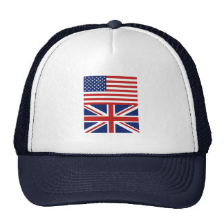USA & UK Flags Mesh Hats