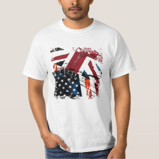 USA-UK Grungy T-Shirt