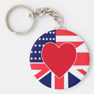 USA/UK Love Key Chains