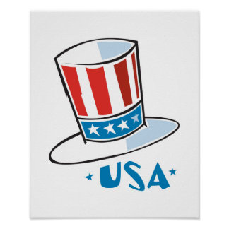 USA Uncle Sam Hat Poster