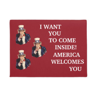 USA Uncle Sam Patriotic Welcome Mat