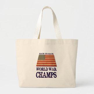 USA Undisputed back to back world war champions Jumbo Tote Bag