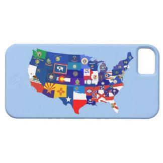 usa united states america republic flag map iPhone 5 case
