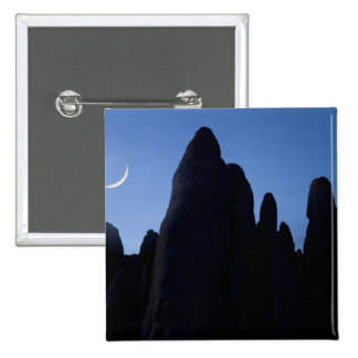 USA, Utah, Arches National Park. Crescent moon 15 Cm Square Badge