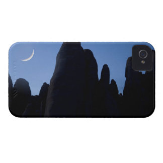 USA, Utah, Arches National Park. Crescent moon iPhone 4 Case-Mate Cases