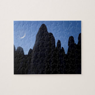 USA, Utah, Arches National Park. Crescent moon Jigsaw Puzzle