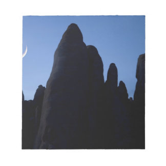 USA, Utah, Arches National Park. Crescent moon Notepad