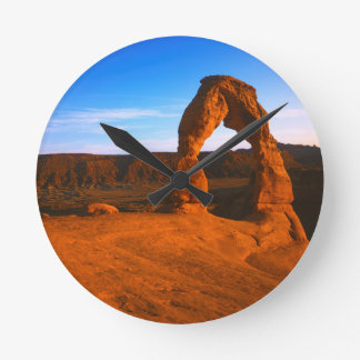 USA, Utah, Arches National Park, Delicate Arch Round Clock
