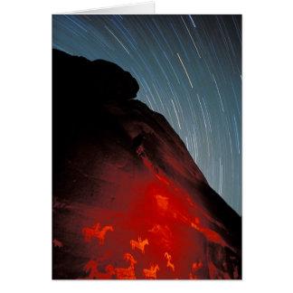 USA, Utah, Arches National Park, Petroglyphs Card