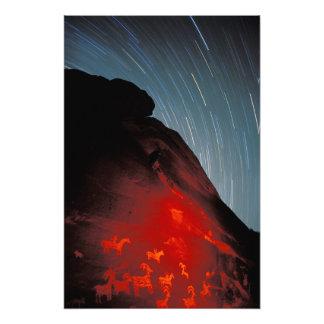 USA, Utah, Arches National Park, Petroglyphs Photo Print