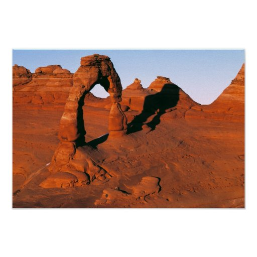 USA, Utah, Arches NP. Delicate Arch is one of Posters