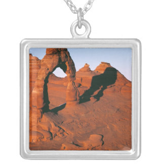 USA, Utah, Arches NP. Delicate Arch is one of Silver Plated Necklace