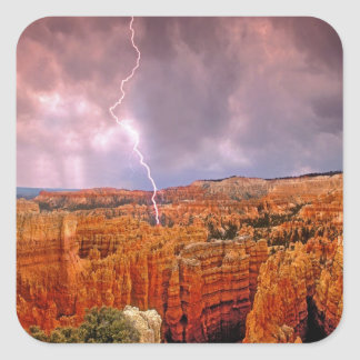 USA, Utah, Bryce Canyon National Park. Square Sticker