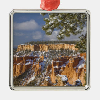 USA, Utah, Bryce Canyon National Park. Sunrise Silver-Colored Square Decoration