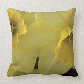USA, Utah, Cache Valley Daffodils Throw Pillow