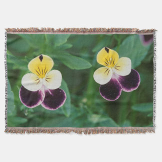USA, Utah, Cache Valley, Johnny Jump Up Throw Blanket