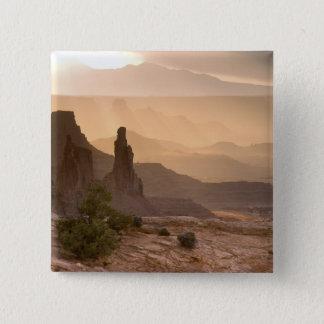 USA; Utah; Canyonlands National Park. View of 15 Cm Square Badge
