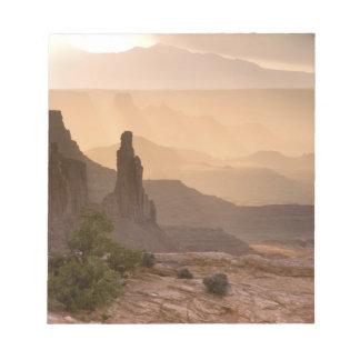 USA; Utah; Canyonlands National Park. View of Notepad