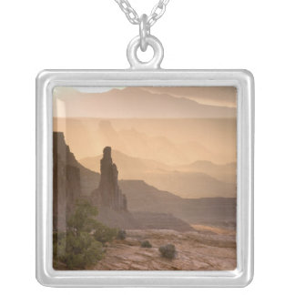 USA; Utah; Canyonlands National Park. View of Silver Plated Necklace