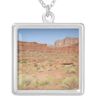 USA, Utah, Canyonlands NP, Shafer Canyon Silver Plated Necklace