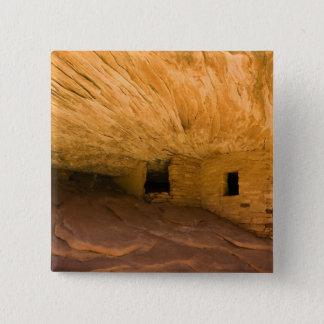 USA, Utah, Cedar Mesa, Mule Canyon. Sandstone 15 Cm Square Badge