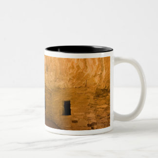 USA, Utah, Cedar Mesa, Mule Canyon. Sandstone Two-Tone Coffee Mug