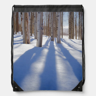 USA, Utah, Dixie National Forest, Aspens Drawstring Bag