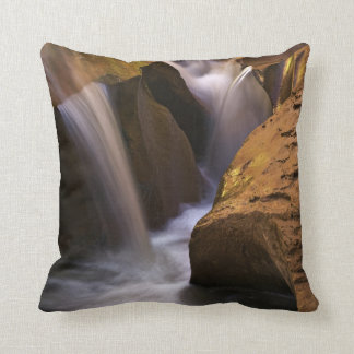 USA, Utah, Escalante Wilderness. Waterfall in 2 Cushion