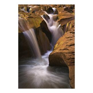 USA, Utah, Escalante Wilderness. Waterfall in 2 Photo Print