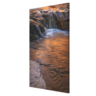 USA Utah Escalante Wilderness Waterfall in Stretched Canvas Print