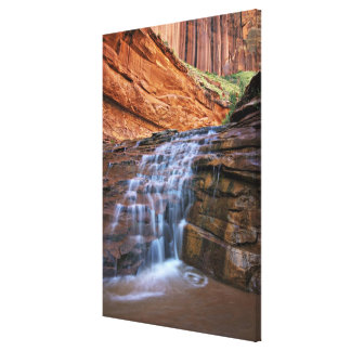 USA Utah Escalante Wilderness Waterfall in Gallery Wrapped Canvas