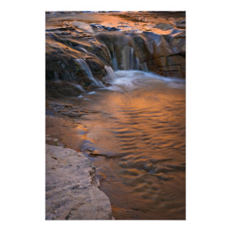 USA, Utah, Escalante Wilderness. Waterfall in Photographic Print