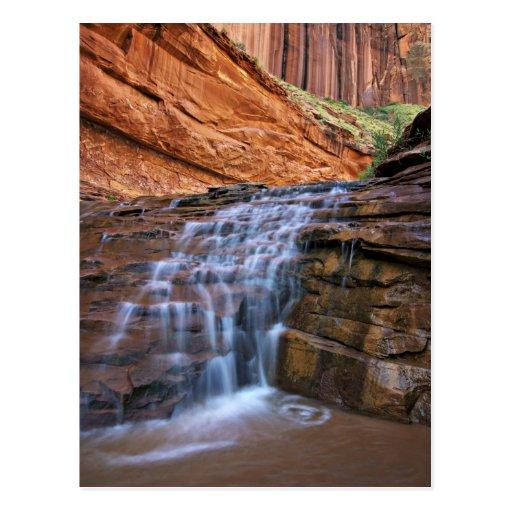 USA, Utah, Escalante Wilderness.  Waterfall in Postcard