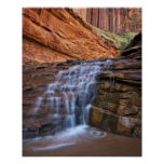 USA, Utah, Escalante Wilderness.  Waterfall in Poster