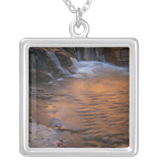 USA, Utah, Escalante Wilderness. Waterfall in Silver Plated Necklace