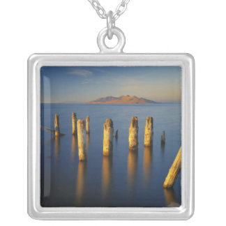 USA, Utah, Great Basin, Saltair, Great Salt Silver Plated Necklace
