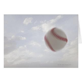 USA, Utah, Lehi, Baseball against sky Card
