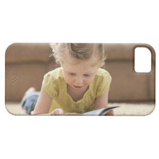 USA, Utah, Lehi, Girl (2-3) lying on rug, Case For The iPhone 5