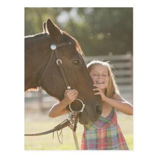 USA, Utah, Lehi, Portrait of smiling cowgirl 2 Postcard