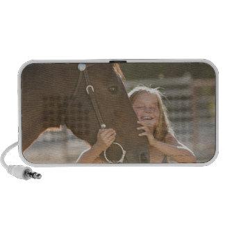 USA Utah Lehi Portrait of smiling cowgirl 2 Mp3 Speakers