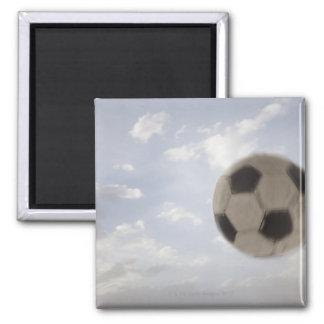 USA, Utah, Lehi, Soccer ball against sky Square Magnet
