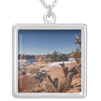 USA, Utah, Moab. Canyonlands National Park, Square Pendant Necklace