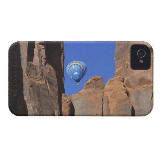 USA, Utah, Monument Valley. A rainbow hot-air Case-Mate iPhone 4 Case