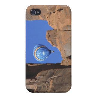 USA, Utah, Monument Valley. A rainbow hot-air Covers For iPhone 4