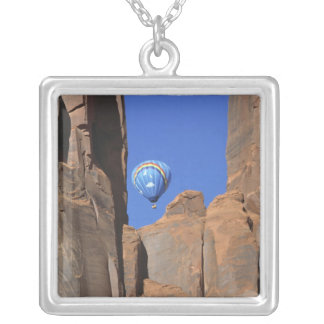 USA, Utah, Monument Valley. A rainbow hot-air Silver Plated Necklace