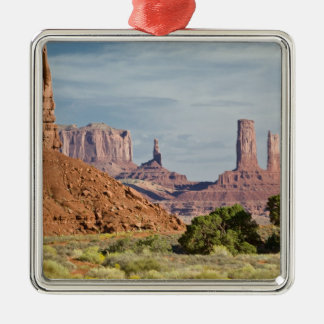 USA, Utah, Monument Valley Navajo Tribal Park. Silver-Colored Square Decoration